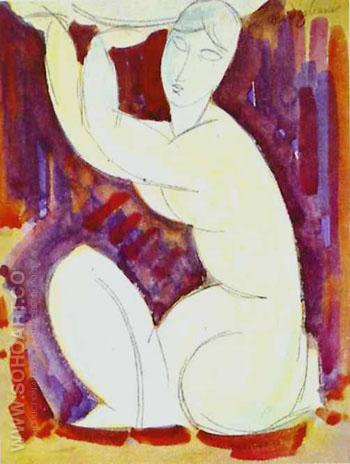 Caryatid A 1913 - Amedeo Modigliani reproduction oil painting