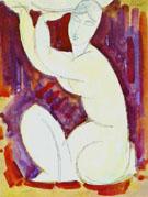Caryatid A 1913 - Amedeo Modigliani