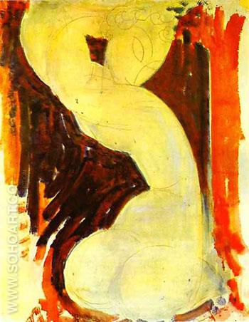 Caryatid c1913 - Amedeo Modigliani reproduction oil painting