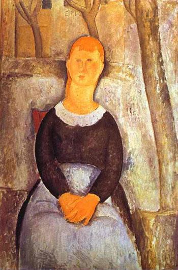 La Belle Epiciere 1918 - Amedeo Modigliani reproduction oil painting