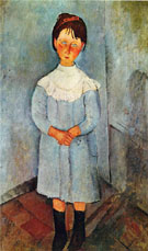 Little Girl in Blue 1918 - Amedeo Modigliani