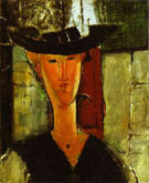 Madam Pompadour Portrait of Beatrice Hastings 1915 - Amedeo Modigliani reproduction oil painting