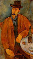 Man with a Wine Glass - Amedeo Modigliani