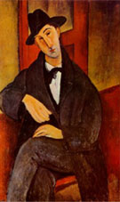 Mario - Amedeo Modigliani reproduction oil painting