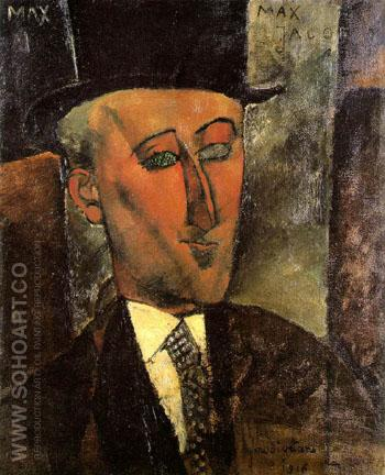 Max Jacob - Amedeo Modigliani reproduction oil painting