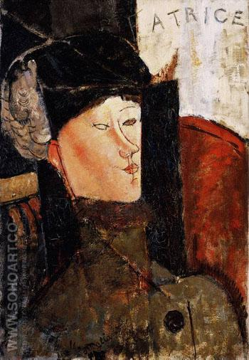 Beatrice Hastings - Amedeo Modigliani reproduction oil painting