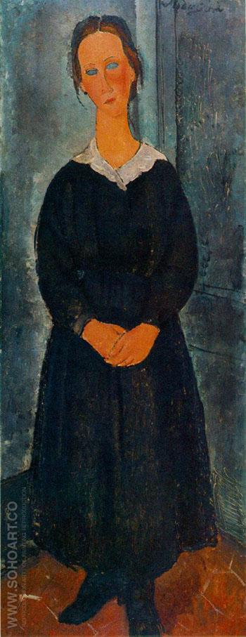 Jeune Bonne - Amedeo Modigliani reproduction oil painting