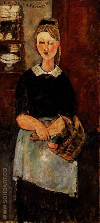 Pretty Housewife - Amedeo Modigliani reproduction oil painting