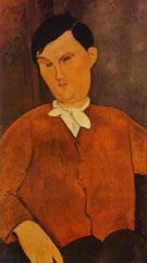 Monsieur Deleu 1916 - Amedeo Modigliani reproduction oil painting