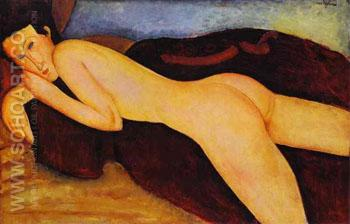 Reclining Nude from the Back 1917 - Amedeo Modigliani reproduction oil painting