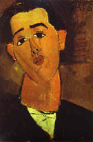 Portrait of Juan Gris 1915 - Amedeo Modigliani