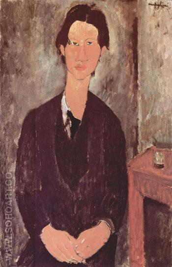 Portrait of Chaim Soutine 1916 - Amedeo Modigliani reproduction oil painting