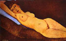 Reclining Nude with Blue Cushion 1917 - Amedeo Modigliani