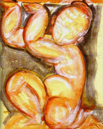 Rose Caryatid Audace c1914 - Amedeo Modigliani reproduction oil painting
