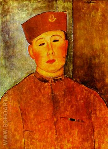 The Zouave 1918 - Amedeo Modigliani reproduction oil painting