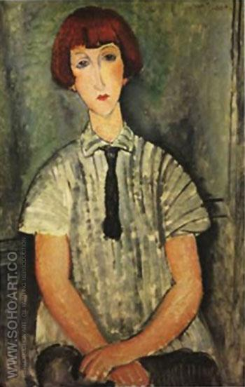 Young Girl - Amedeo Modigliani reproduction oil painting