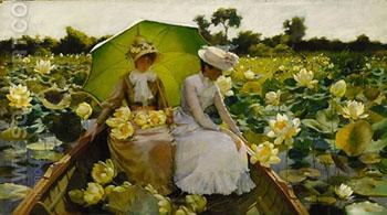 Lotus Lilies 1888 - Charles Courtney Curran reproduction oil painting