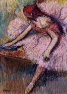 Pink Dancer 1896 - Edgar Degas
