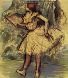 Dancer with Fan c1897 - Edgar Degas reproduction oil painting