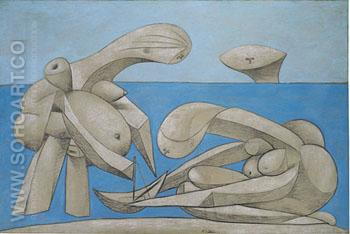 On the Beach 1937 - Pablo Picasso reproduction oil painting