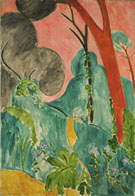 Periwinkles Moroccan Garden 1912 - Henri Matisse reproduction oil painting