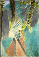 Palm Leaf Tangier 1912 - Henri Matisse reproduction oil painting