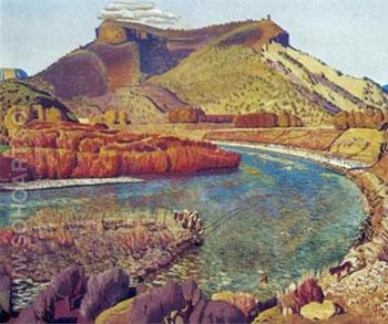 Bend in the River - Ernest L Blumenschein reproduction oil painting