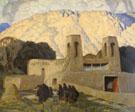 Church at Chimaya 1929 - Ernest L Blumenschein