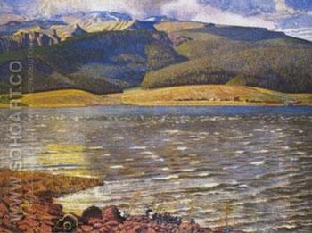 Eagles Nest Lake Approximate - Ernest L Blumenschein reproduction oil painting