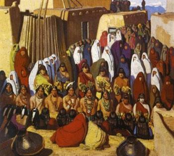 Indian Dance - Ernest L Blumenschein reproduction oil painting
