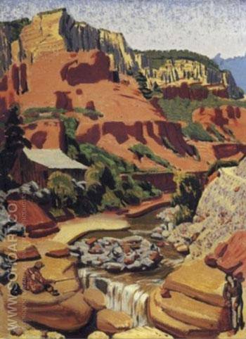 Oak Creek Canyon Arizona Approximate - Ernest L Blumenschein reproduction oil painting