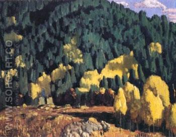 Taos Canyon - Ernest L Blumenschein reproduction oil painting