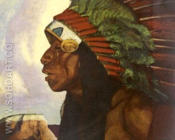 Taos Indian Cheif - Ernest L Blumenschein reproduction oil painting