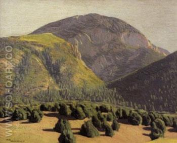 Tree Covered Mountains - Ernest L Blumenschein reproduction oil painting