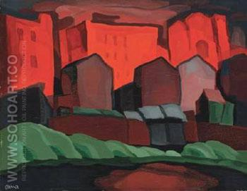 American Night Red Glare - Oscar Bluemner reproduction oil painting