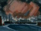 Florianus Sketch For Red Storm - Oscar Bluemner