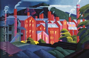 Jersey Silk Mills - Oscar Bluemner reproduction oil painting