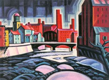 Expression of a Silktown New Jersey 1915 - Oscar Bluemner reproduction oil painting