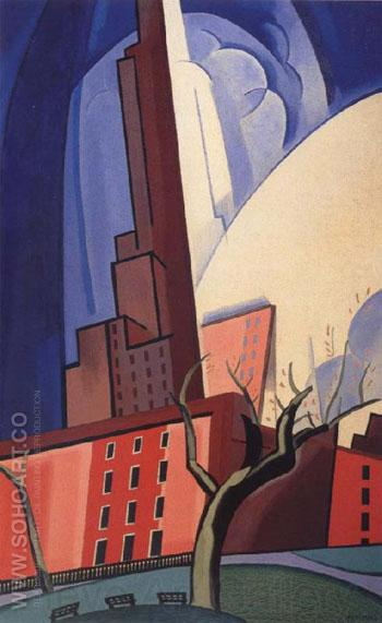Circles of Washington Square 1935 - Oscar Bluemner reproduction oil painting