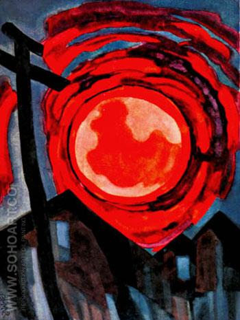 Eye of Fate 1927 - Oscar Bluemner reproduction oil painting