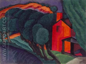 Glowing Night - Oscar Bluemner reproduction oil painting