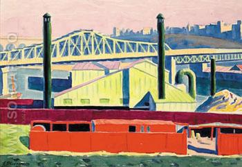 Harlem River - Oscar Bluemner reproduction oil painting