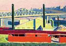 Harlem River - Oscar Bluemner