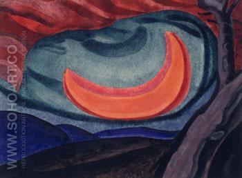 Loving Moon 1927 - Oscar Bluemner reproduction oil painting