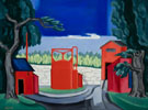 Red Tank West Quincy 1922 - Oscar Bluemner