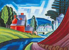 Space Motive A N J Valley 1917 - Oscar Bluemner