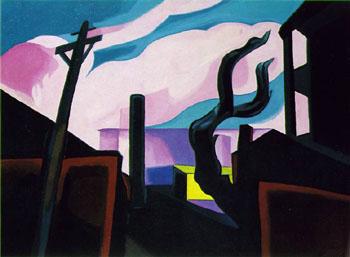Violet Tones 1934 - Oscar Bluemner reproduction oil painting