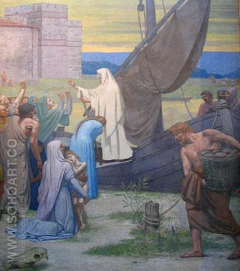 Life of St Genevieve - Pierre Puvis de Chavannes reproduction oil painting