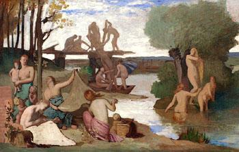 River - Pierre Puvis de Chavannes reproduction oil painting