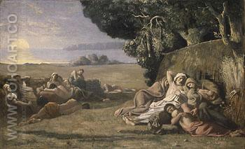 Sleep - Pierre Puvis de Chavannes reproduction oil painting